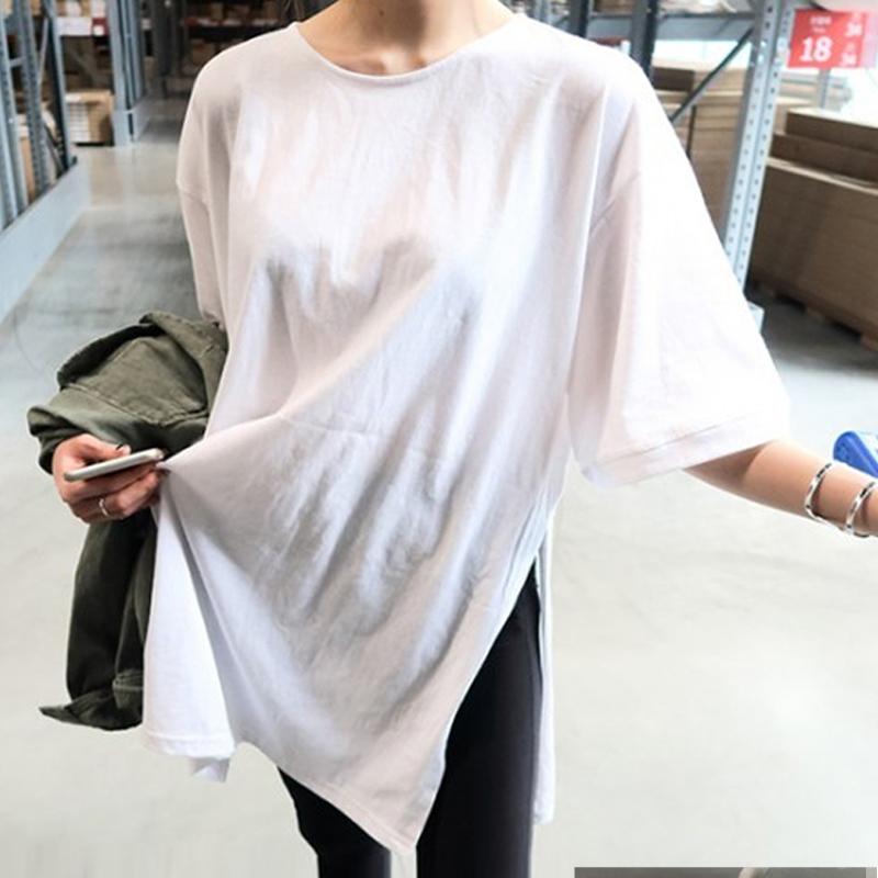 2020新款t恤女中长款纯棉宽松上衣-秒客网