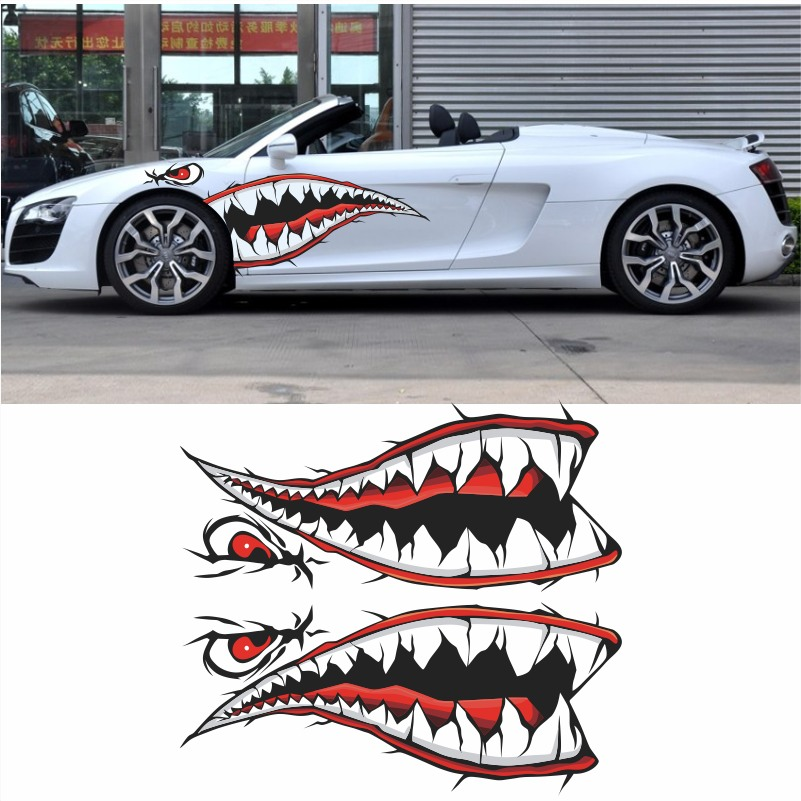 Body Sticker Flying Tiger Shark Mouth Car Sticker Drawing