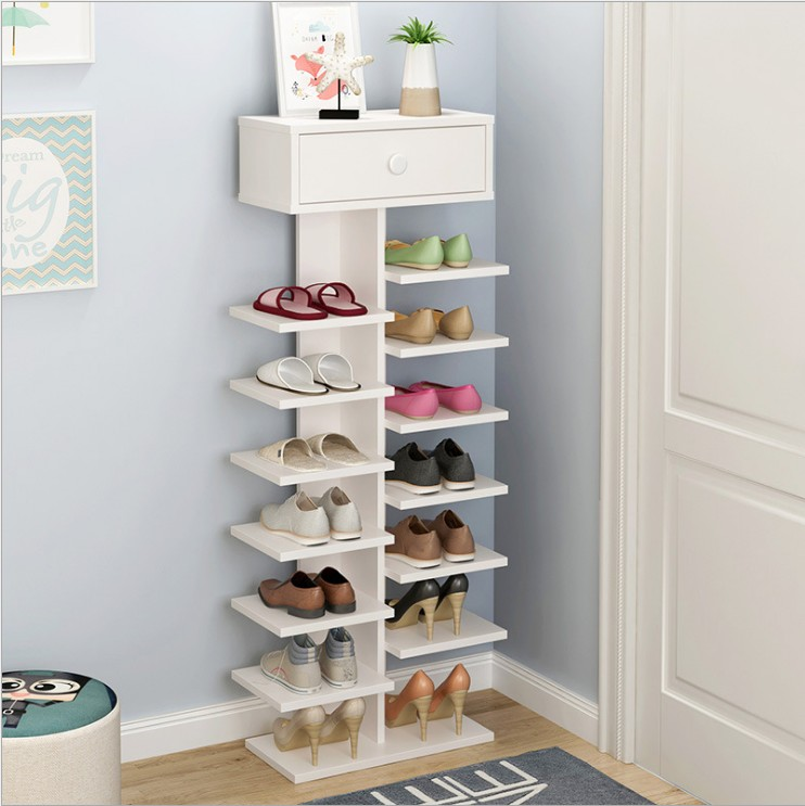 Simple Shoe Rack Multi Layer Special Door Home Storage Space Living Room  Mini Shoe Cabinet Economy Storage Rack