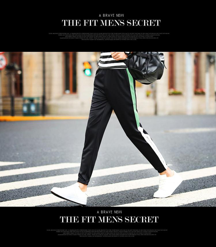 Chín quần của nam giới thường quần mùa hè phần mỏng thanh niên mỏng quần của nam giới 9 điểm chân quần sinh viên Hàn Quốc quần đen thủy triều