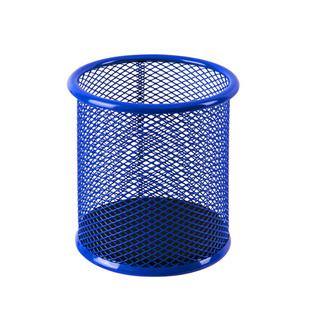 得力笔筒金属网纹多功能收纳盒