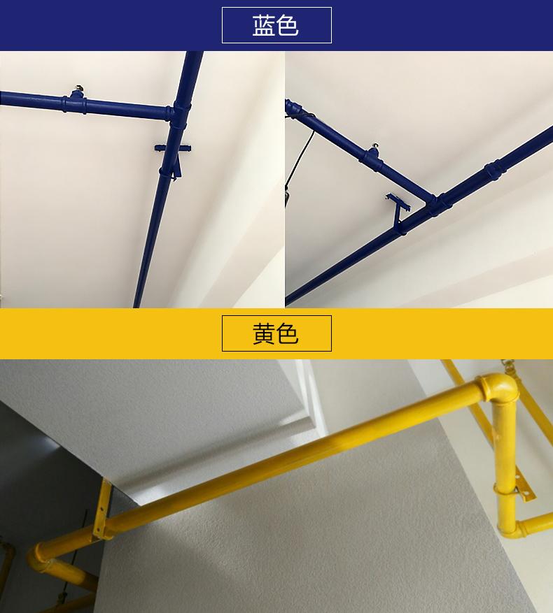 三青水性油漆金属防锈漆栏杆铁门 室内银粉漆家用暖气片白红涂料商品详情图