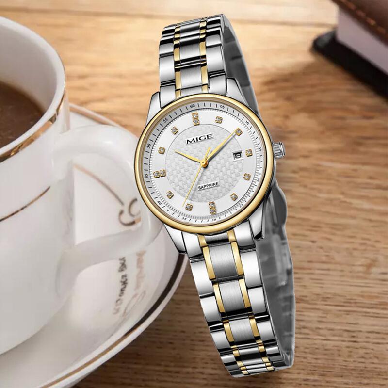 男士石英男精钢手表手表米格经典情侣表商务手表防水女士复古简