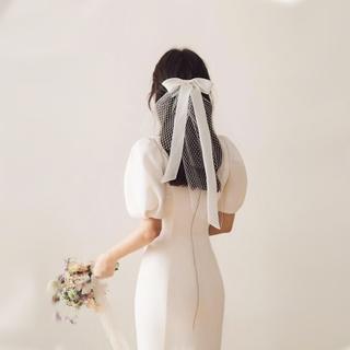 Сетка бант лента невеста вуаль краткое модель бригада бить свадьба моделирование фото свадьба головной убор маленькая голова пряжа корейский, цена 445 руб