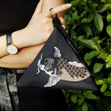 KK9_ original design squid triangle bag wild waterproof handbag fashion shoulder mini bag 粽 children bag