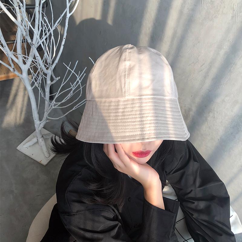 防晒遮阳渔夫帽女小众钟形日系盆帽秋韩版潮ins水桶百搭太阳帽子