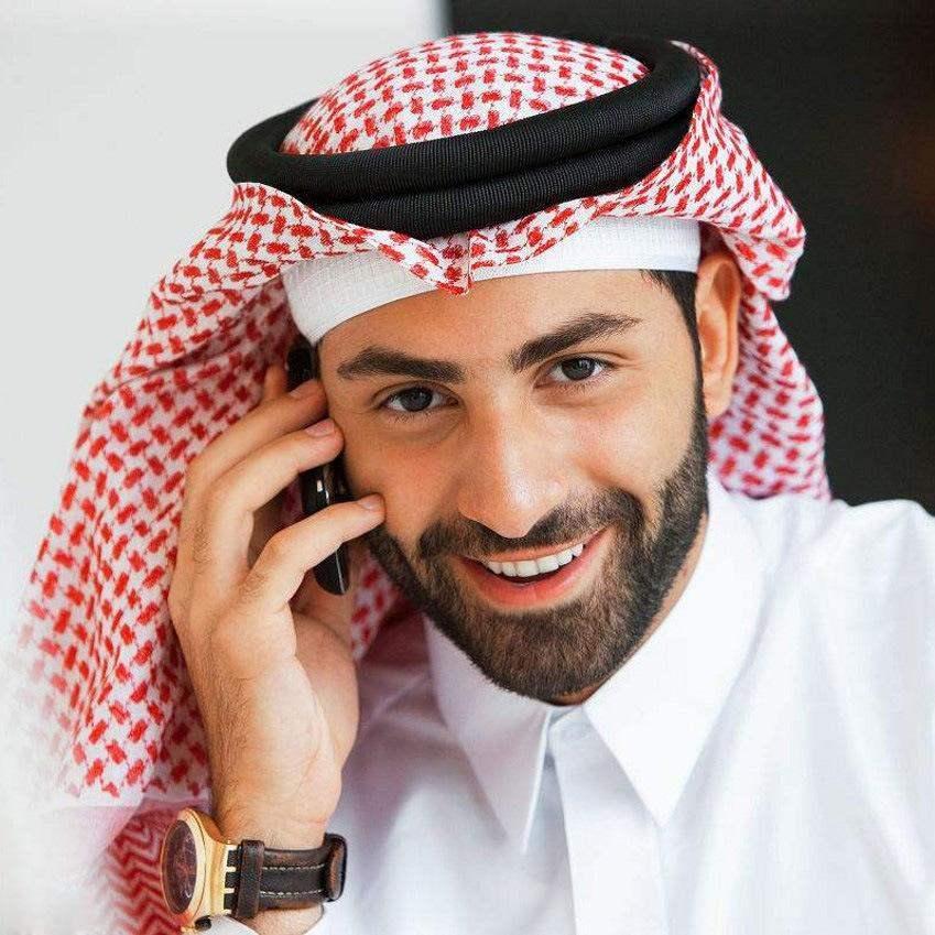 Miễn phí vận chuyển Trung Đông Ả Rập Saudi Du lịch Nam Headscarf Abu Dhabi Arabian Headscarf Nam Headband - Kerchief / Earflap