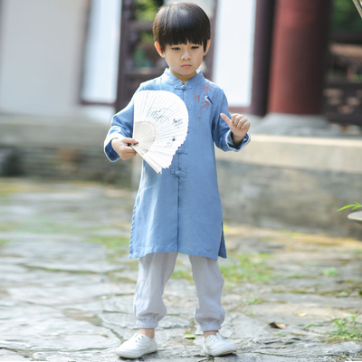 Boy, Han suit, children's clothing, children's national wind clothing, male baby, Chinese costume.