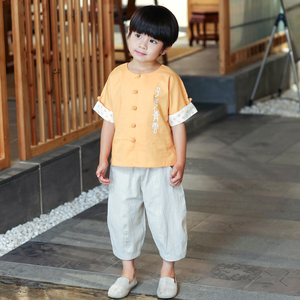 Boys Tang Suit for Kids BoysHanfu Tang suit children Chinese style children clothing children national costume summer baby Retro Costume