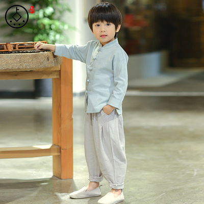 Children's clothing, boys, children's wear, Chinese baby, retro girls' national costume
