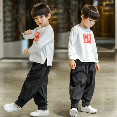 Boy's Hanfu, children's clothes, baby, retro national costume, children's costume.