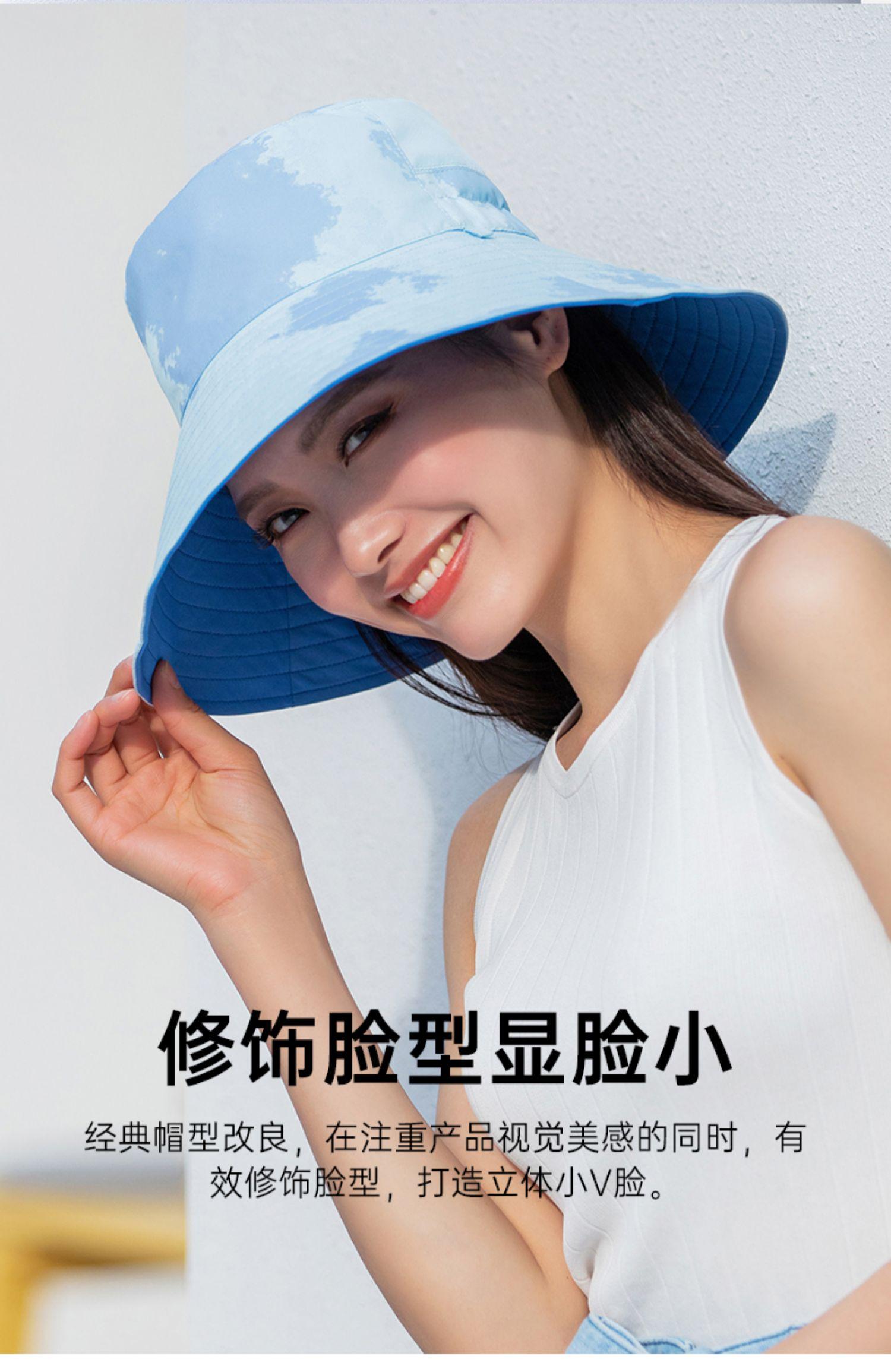 夏季双面戴防晒太阳帽防紫外线渔夫帽