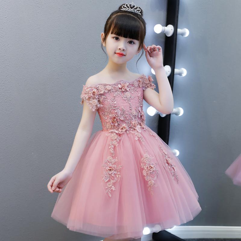 На девочку Вечернее платье для маленькой принцессы юбка детские Свадебная пушистая девушка с цветочным ужином