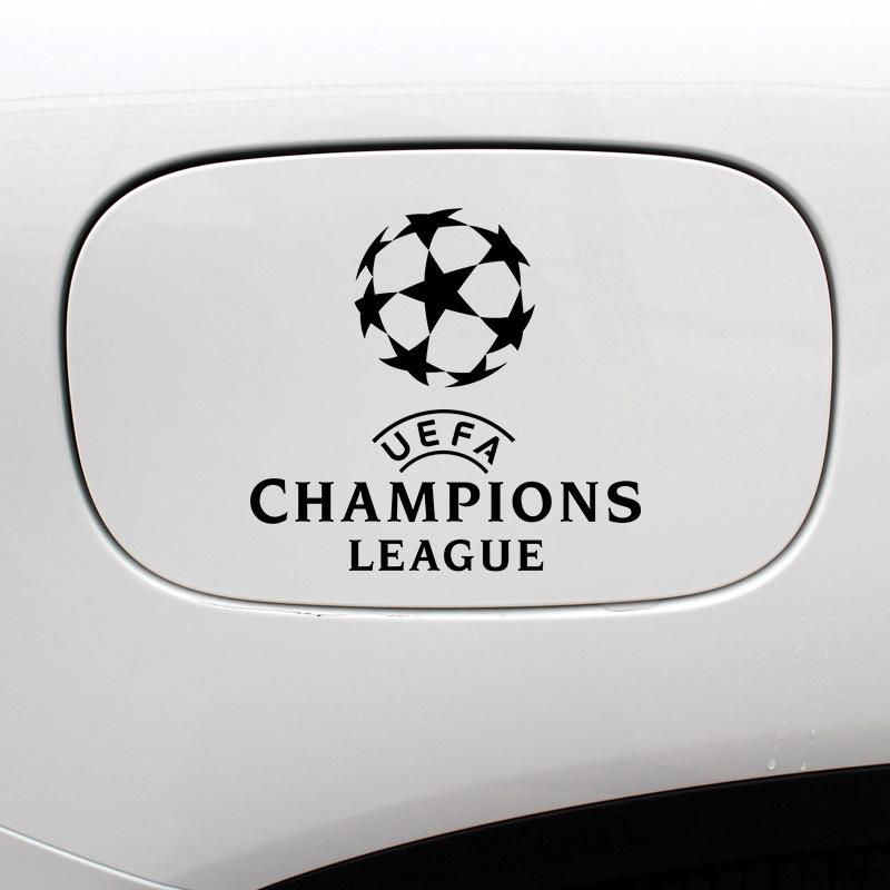 欧冠车贴欧洲冠军杯LOGO反光贴纸车身足球贴纸队徽汽车贴油箱盖