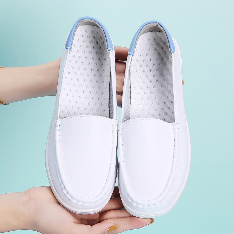 气垫护士鞋坡跟秋冬新款白色平底舒适软底防臭透气防滑医院不累脚