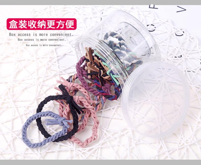 橡皮筋发圈女韩国可爱简约头绳小清新个性皮套2018新款发绳扎头发商品详情图