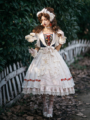 taobao agent Snow White in the Forest OP Short/Long Classical Doll Lolita Dress Spot