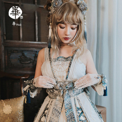 taobao agent Gold wire and iron wire JSK porcelain doll huà lolita dress in stock