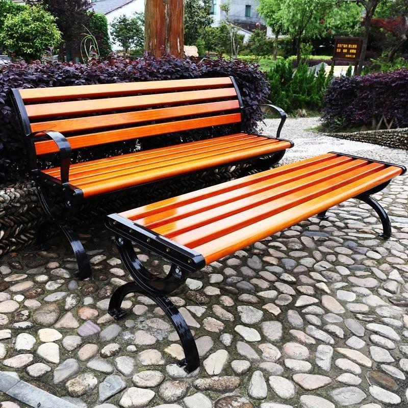 Sân nghỉ ngơi giải trí ngoài trời băng ghế công viên ghế chống ăn mòn ghế gỗ ghế băng ghế vuông vuông đồ gỗ - Nội thất thành phố