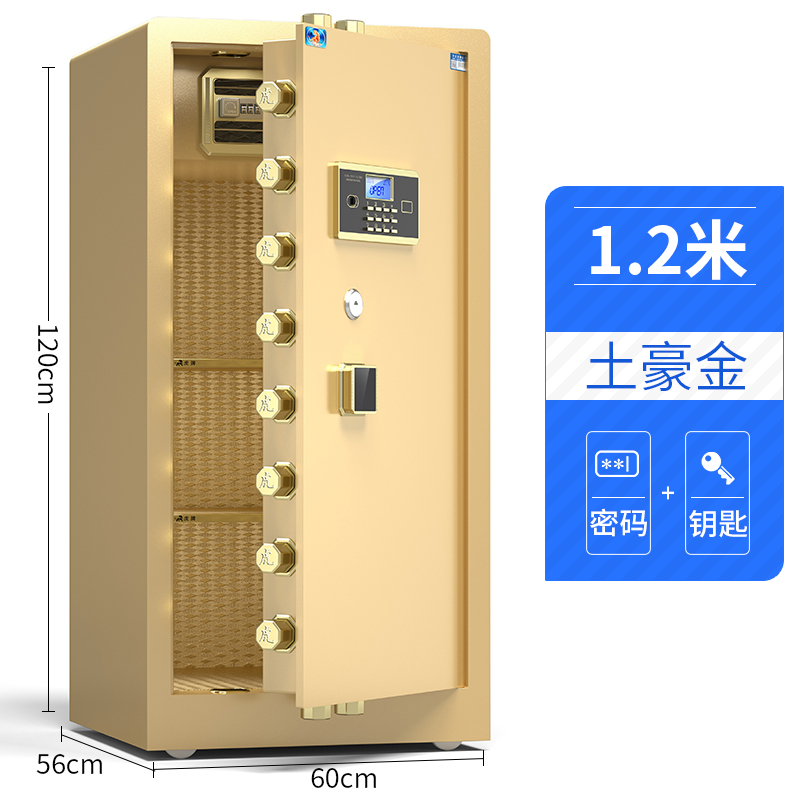1.2 M SINGLE DOOR LOCAL GOLD (ELECTRONIC PASSWORD + KEY)
