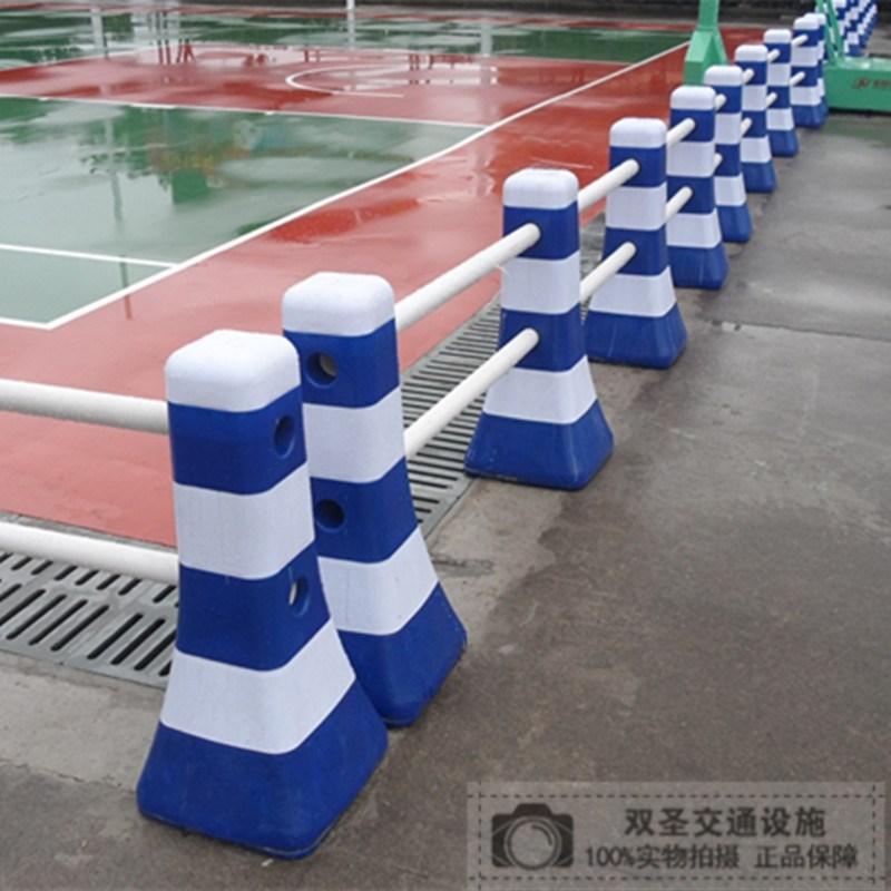 蓝白塑料隔离墩道路路障围栏分流桶护栏反光锥水马小红白防撞桶
