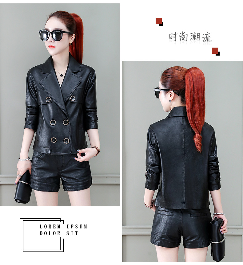 Locomotive jacket women 2020 new autumn and winter fashion small air fried street short spring and autumn small leather jacket tide 59 Online shopping Bangladesh