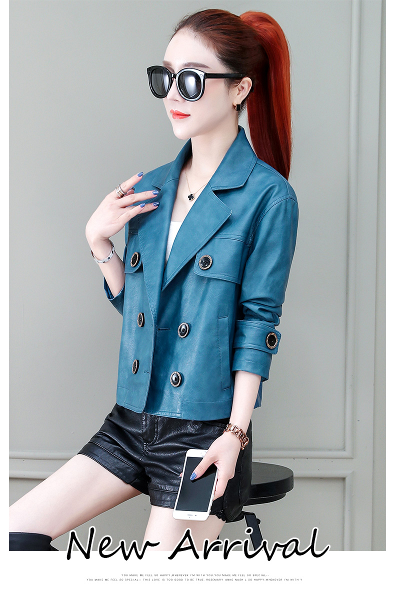 Locomotive jacket women 2020 new autumn and winter fashion small air fried street short spring and autumn small leather jacket tide 56 Online shopping Bangladesh