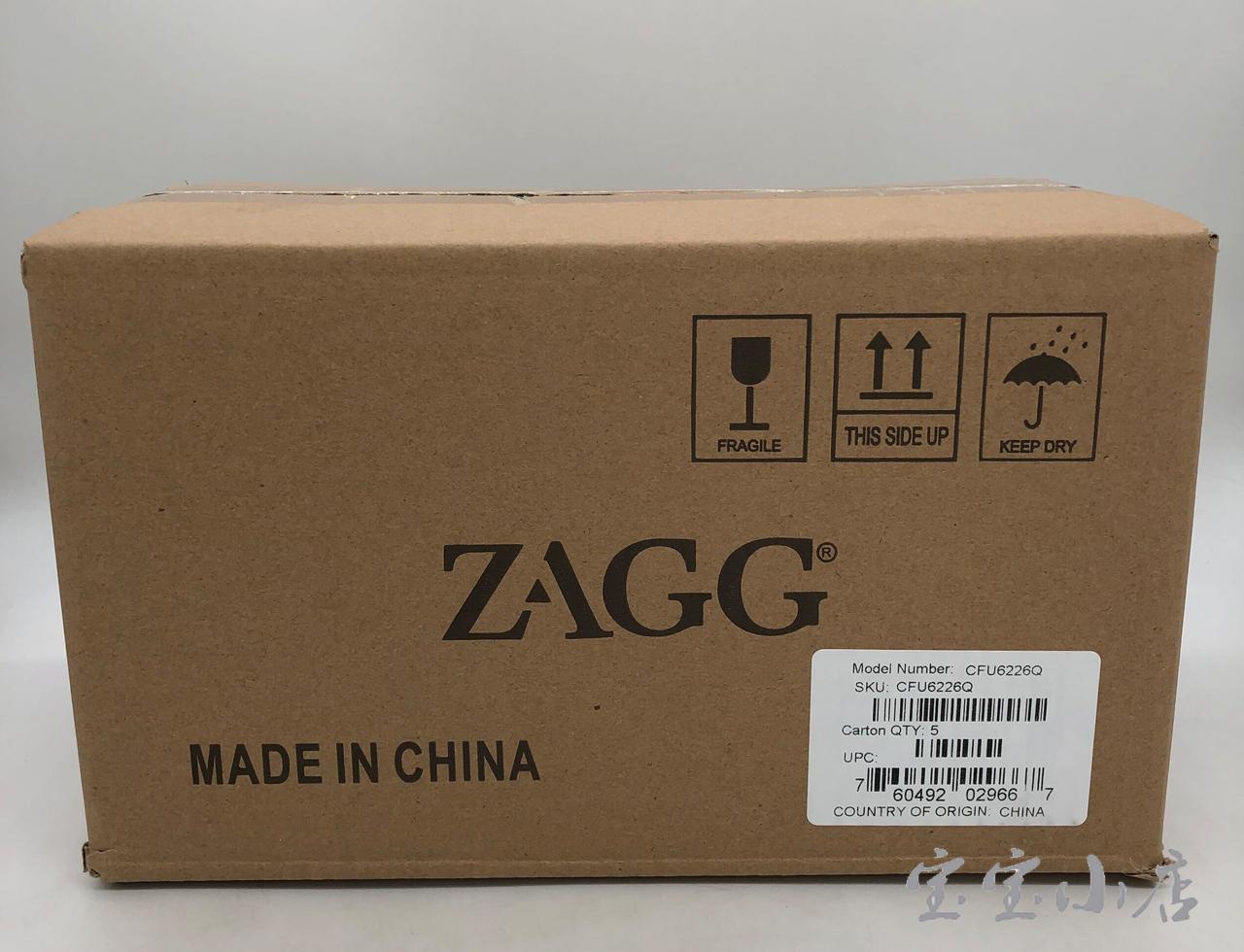 ZAGG电脑平板蓝牙键盘清洁防尘静音办公专用打字小型便携无线游戏键盘