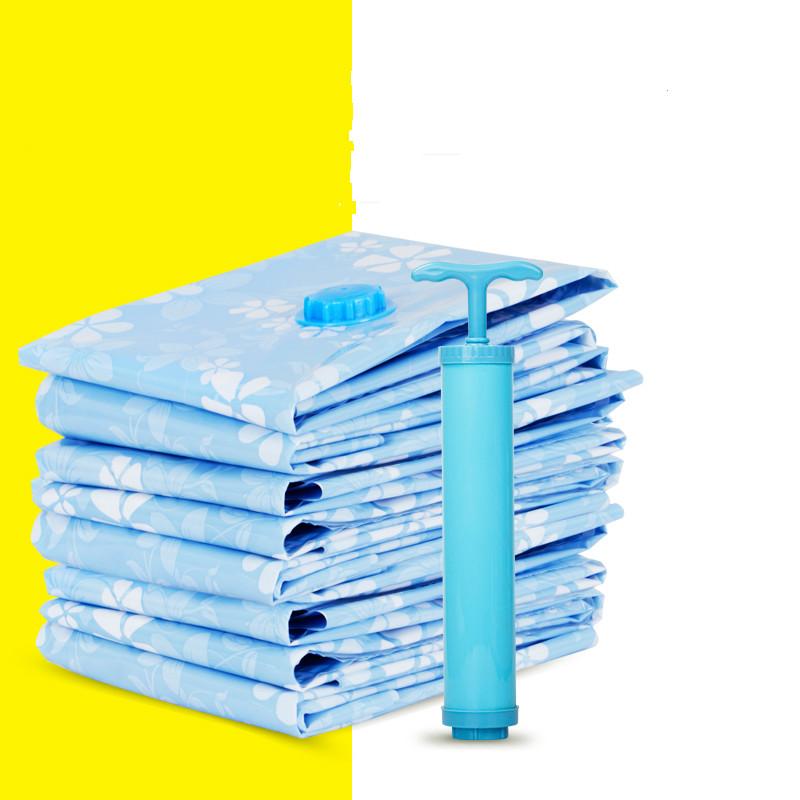 实惠装2特大2中2手卷真空压缩袋送泵加厚棉被物防霉防潮收纳袋
