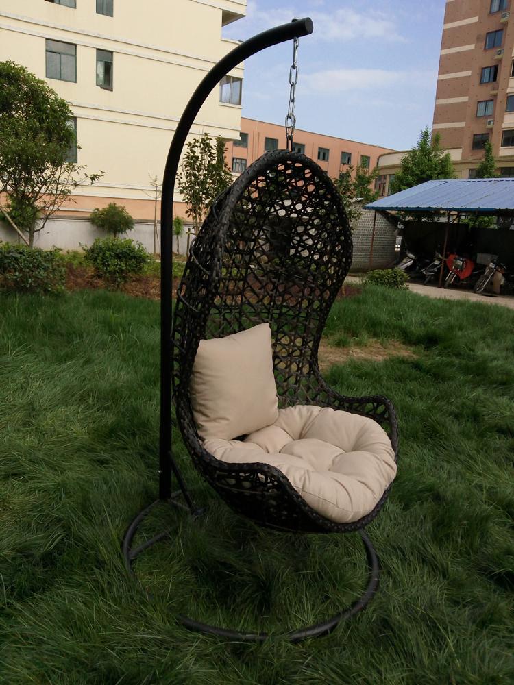 Outdoor Swing Chair Swing Hanging Chair Hanging Basket Rattan Garden Cradle  Chair Indoor Adult Balcony Cradle
