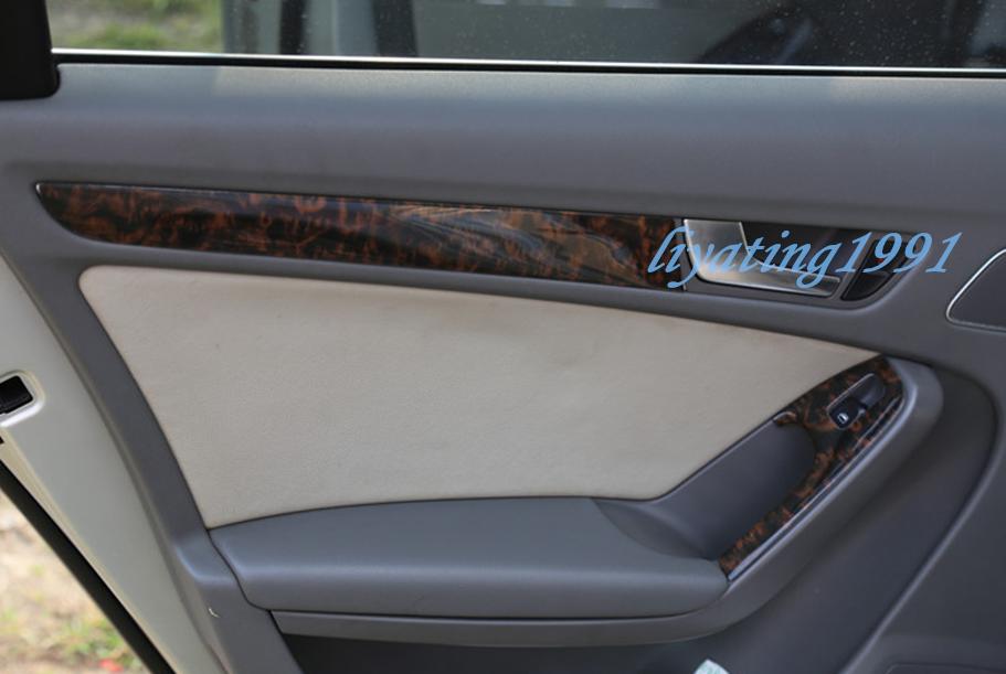 12PCS ABS Wood Grain Car Interior Kit Cover Trim Fit For Audi A4 B8 2009-2012  eBay