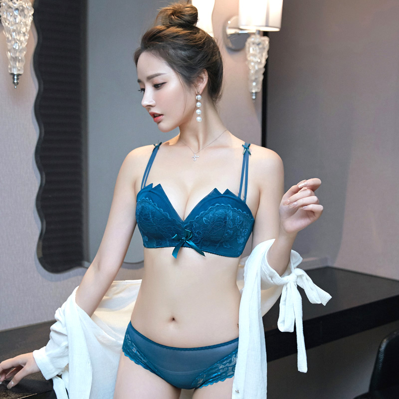 Lace No Rims Bra Underwear Womens Suits Gather Sex Confused Small Chest Girls Sexy Ladies Bras