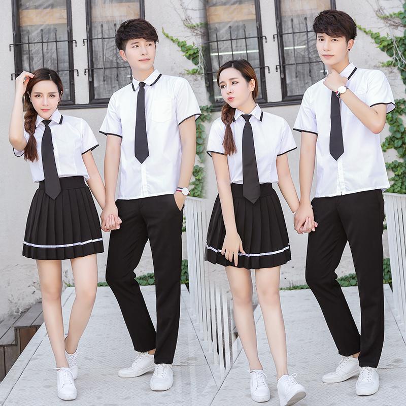 Институт ветер униформа японский униформа jk форма корейский рано старшие классы средней школы студент женский белый рубашка осень и зима класс обслуживания производительность одежда