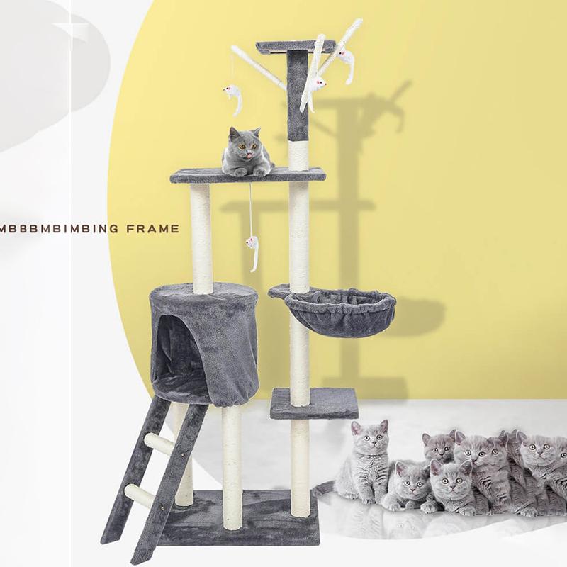 剑麻〓猫爬架猫窝猫树一体小型多功能大型猫架子猫抓板跳台猫咪玩具