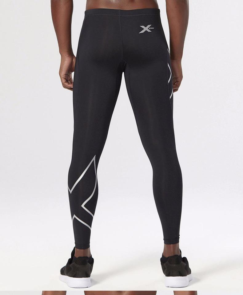2XU 男士梯度压缩裤透气速干 运动紧身裤跑步健身裤男 MA1967b商品详情图