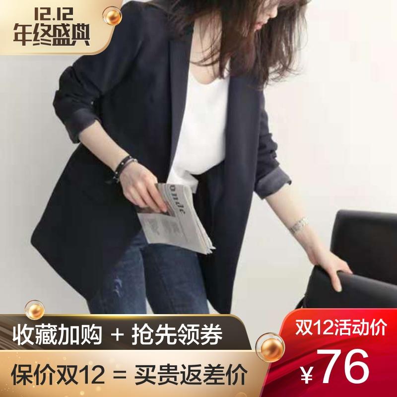 2018春秋季新款韩版小西装女士外套chic上衣正装黑色休闲秋装西服