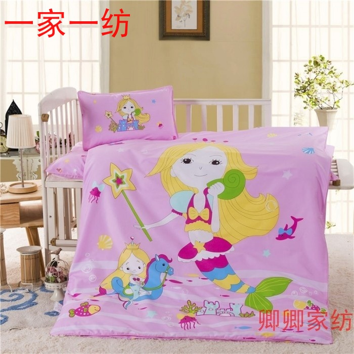 Kindergarten quilt thirty-six sets of pure cotton core mermaid princess quilt spring and autumn children's cartoon bedding