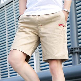 纯棉休闲裤男士大码五分短裤运动沙滩裤