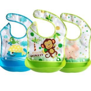宝宝吃饭围兜婴儿围嘴小孩食饭兜防水口水儿童饭兜衣围兜喂饭兜