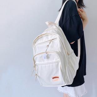 多层书包学生背包简约大容量双肩包