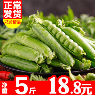 Pea pods 5 pounds net weight Yunnan shelled edamame beans beans sweet peas Netherlands silkworm farm fresh vegetables