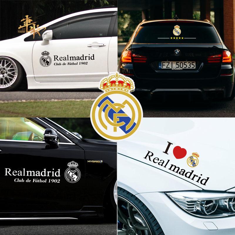 贴纸车贴划痕马德里足球队徽队标皇家皇马欧汽车侧门车门冠盖贴