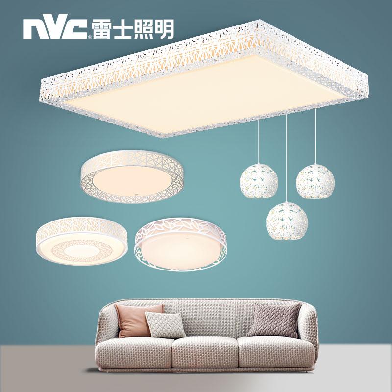 雷士照明led吸顶灯长方形遥控大气简约现代客厅灯卧室灯灯具套餐
