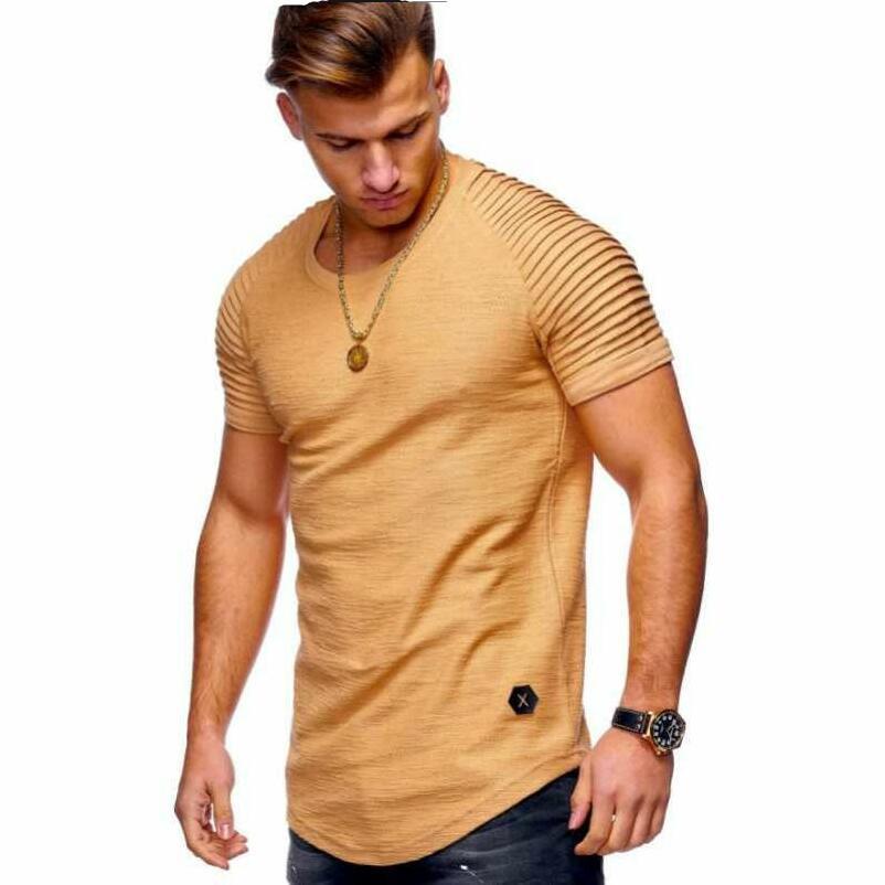 2019Men's short sleeve T-shirt shirt jacket上衣T恤打底衫男士