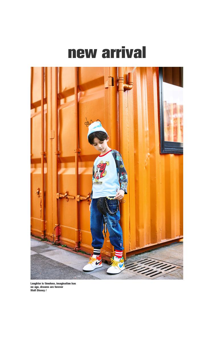 【限时抢购:】小虎宝儿男童长袖恤纯棉新款儿童恤详细照片