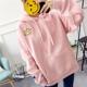 | Цена 1197 руб | Зима плюс утолщённый закрытый свитер женщина жир MM добавить с большим размером код платье верхняя одежда студент карман вышивка волна