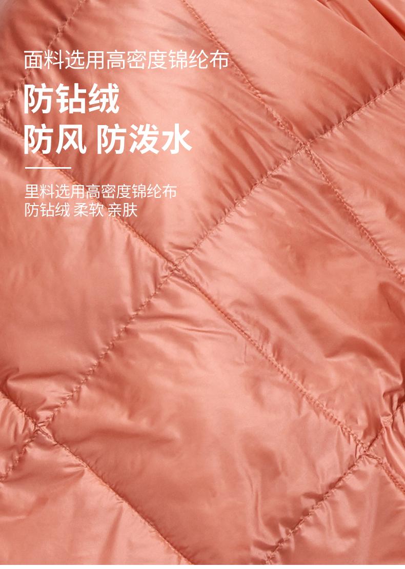 君羽 800蓬45克90%鹅绒 可收纳便携式羽绒毯 空调毯 展开后160*100cm 图6