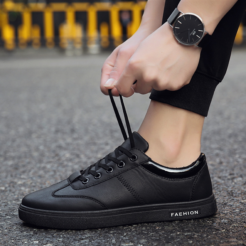 Chef shoes men's non-slip waterproof and oil-proof kitchen special shoes boys small black shoes all black shoes work shoes