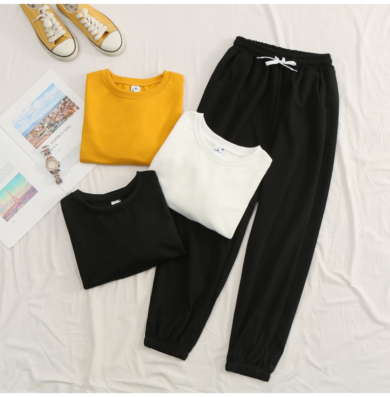Net-a-Go sports suit women's autumn 2020 new Korean version of loose fashion style air-reducing thin casual two-piece set 36 Online shopping Bangladesh
