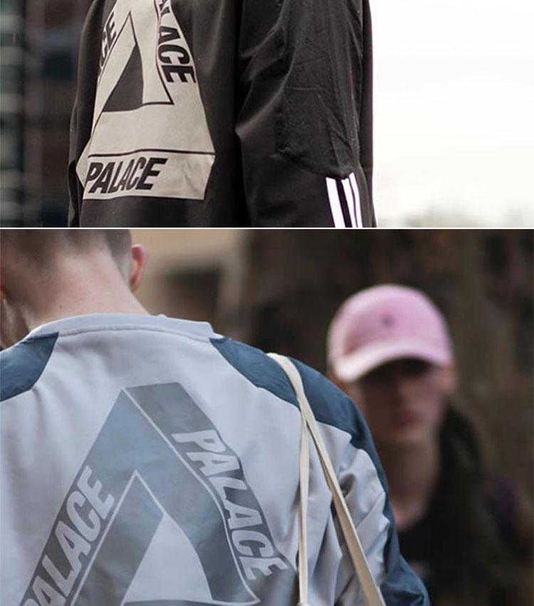 Đường phố cung điện 3m phản chiếu doanh phù hợp với đào tạo tam giác logo ba thanh áo len thường dài tay áo thủy triều